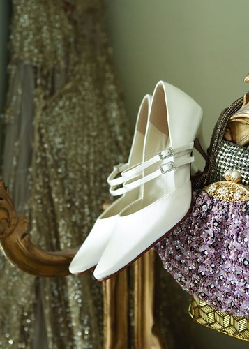 High heel bridal shoes.