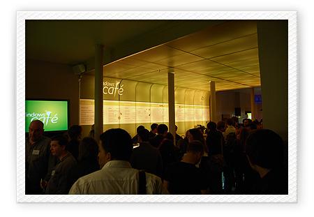 Soirée d'inauguration du Windows Café