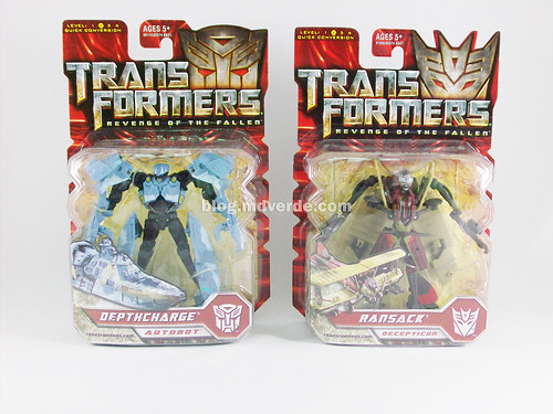Transformers Depthcharge y Ransack Scout RotF - caja