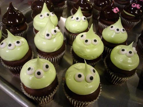 Alien Mini Cupcakes