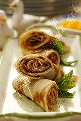 Blinis Rolls with Caramel