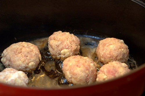 veal ricotta meatballs - take 2