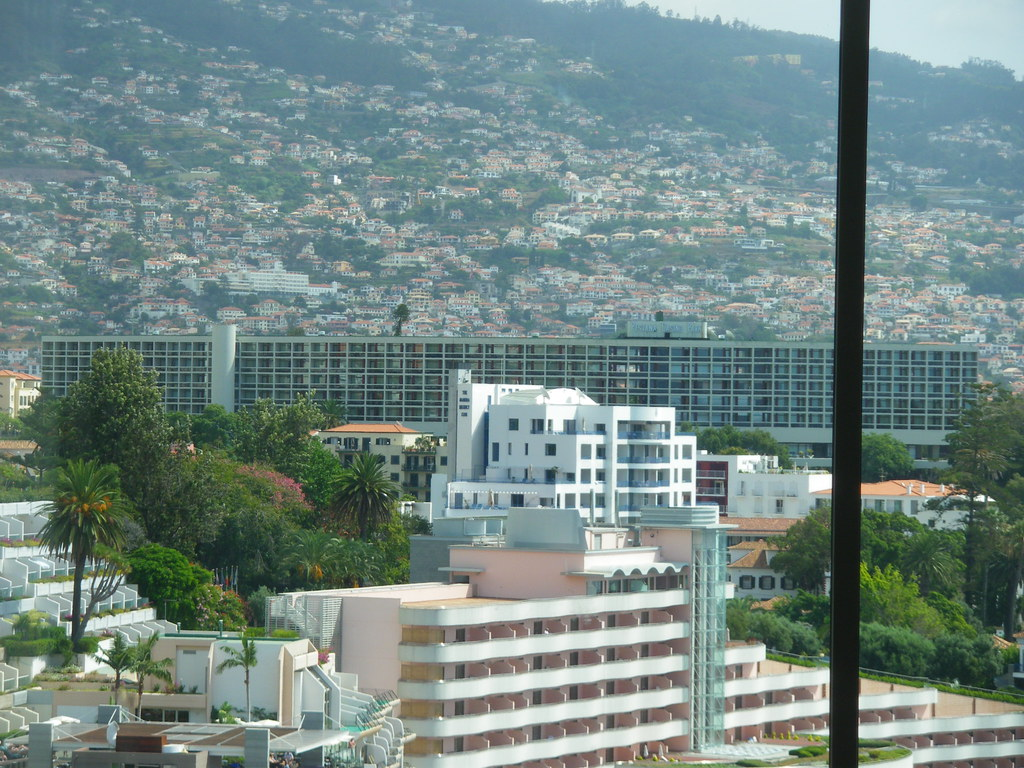 (1) - The Pestana Casino Park Hotel in Funchal, Madeira - in full view - That's the only picture we are aware of to show the whole hotel building - designed by Oscar Niemeyer! September 2009! Enjoy!