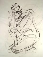 saidraw5 (West Harlem Art Fund) Tags: abstract man art drawing human humanfigure saimorikawa