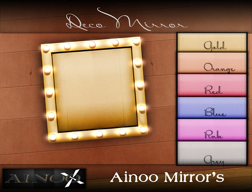 - Ainoo Mirror  set 1 - Deco  Mirror by Ainoo By Alexx Pelia