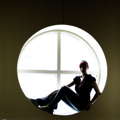 day233 (rainflies) Tags: selfportrait window circle sitting highkey 365 day233 365project 233365 postrapture