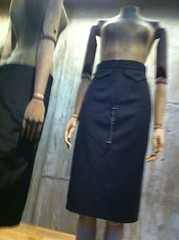 "Wool skirt with ""tampon"" chain (moodlemoodle) Tags: skirt tailored alexandermcqueen charlenejaszewski"