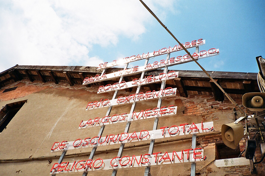 """Entre Siempre y Jamás"", entrata dell' IIla, Istituto Italo-Latino Americano, Arsenale, Corderie_Artiglierie"