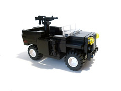 Police Jeep (P E U F) Tags: car truck army war lego jeep soldiers vehicules brickarms