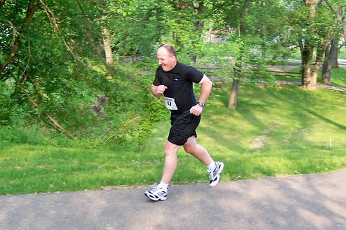 Dave running his first 5K