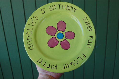 birthday plate for Annalie