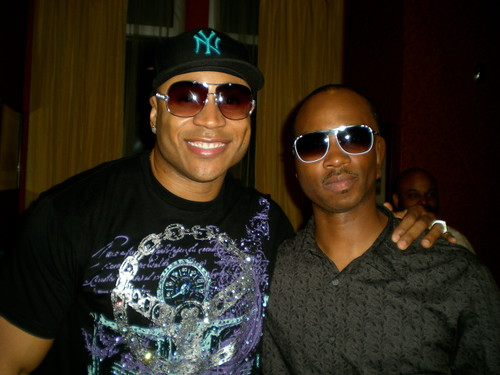 Photo of LL Cool J and Mr. Squeak