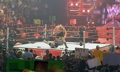 The Big Show stomping on John Cena