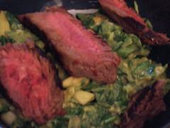 Asian Avocado Salsa with Steak