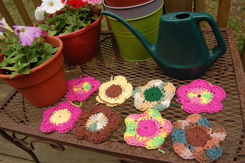 crochet tawashi flowers