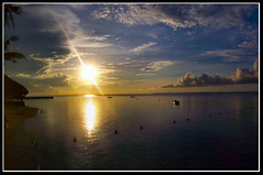 A new day...(FP) (xelor (on and off)) Tags: blue sky sun beach water clouds sunrise cebu rise mactan lapulapu cebusugbo