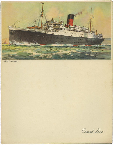 Cunard Menu RMS Ascania_April 17, 1954_tatteredandlost