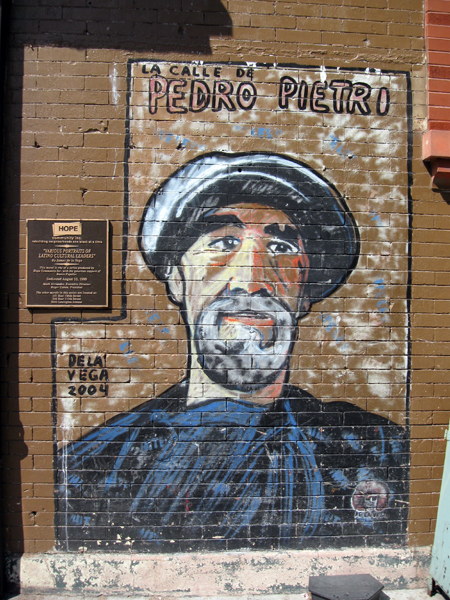 De La Vega Mural - Pedro Pietri (Click to enlarge)