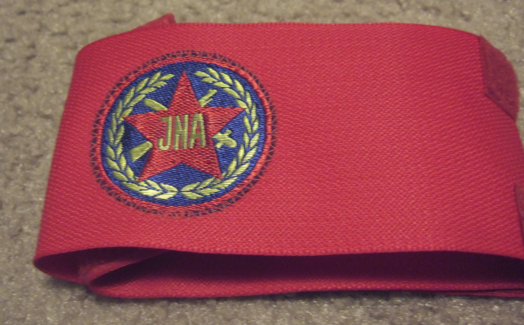 red JNA armband 3612485703_1f17b6c461_o
