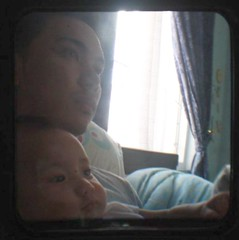 daddy and david through the viewfinder