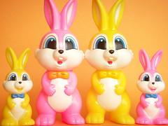 Kawaii Rubber Doll Bunny Kitsch Toy Novelty Rabbit Retro Japan