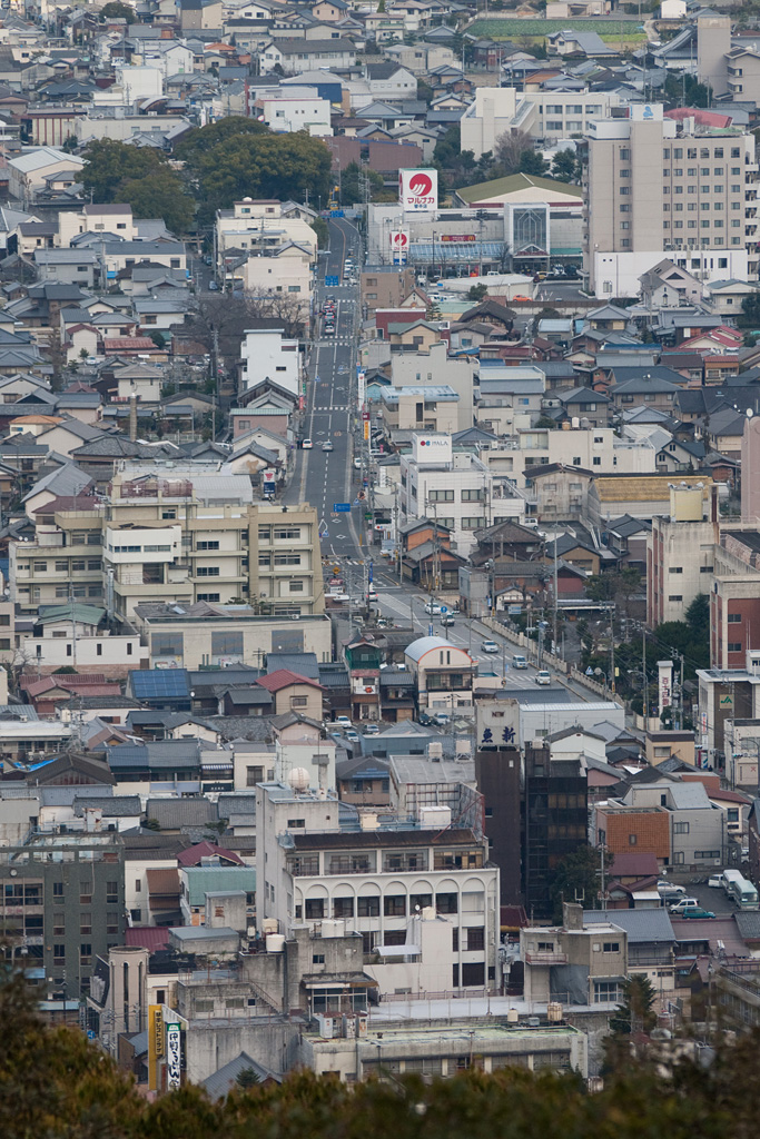 Kotohira town view from the mountain