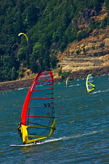 Wind Surfing (ScenicScapes) Tags: travel color beautiful beauty oregon scenery colorful scenic columbiariver pacificnorthwest windsurfing hoodriver scenics columbiarivergorge cartwright sceniclandscape photoscenics
