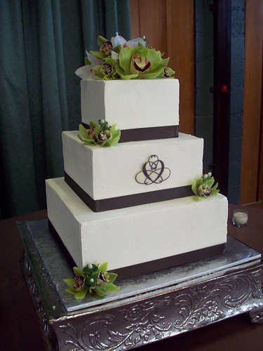 Square Wedding Cakes-Square