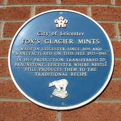 Photo of Fox's Glacier Mints blue plaque