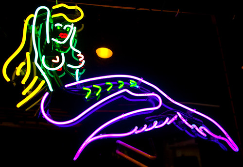 Point Beer · Kick · A Good Neon Sign is a Sign of a Good Tattoo Parlor