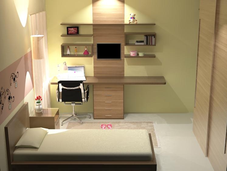 decoração de interior quarto
