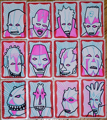 monster headz (andres musta) Tags: art sticker stickerart faces stickers monsters andres supervillains slaps musta