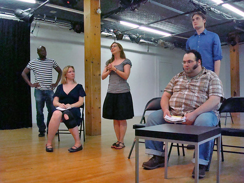 BLOOD rehearsal - Half of the Cast