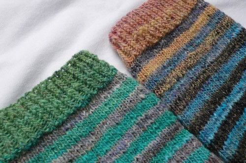 Noro socks in progress
