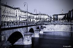 piazza Vittorio Veneto (Roberto Defilippi) Tags: torino ponte piemonte po viraggio piazzavittorio