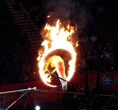 its flaming hoop time
