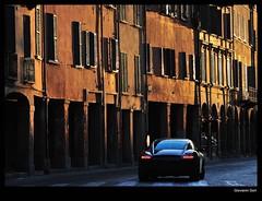 Ghost car (Giovanni Gori) Tags: auto road light sunset italy car race geotagged nikon italia ghost racing explore porsche bologna curve corsa explored nikkor70200mmf28gvr anawesomeshot d700 flickrlovers giovannigori