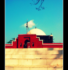 Untitled... (chhayapath :-)) Tags: old blue light red color building history colors wall architecture stairs gate shrine day entrance sunny mosque bangladesh bangla mazar bagerhat chhayapath dtair