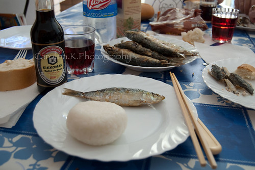 Sardine With Rice & Soy Sauce - August 11, 2009