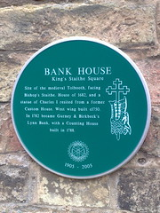Photo of Bank House green plaque