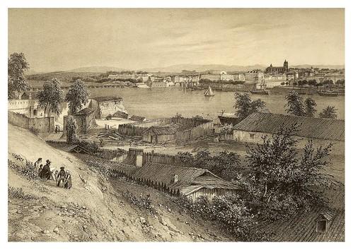 017-Vista general de Baiona tomada desde la ciudadela 1835- Copyright 2009 álbum SIGLO XIX. Diputación Foral de Gipuzkoa