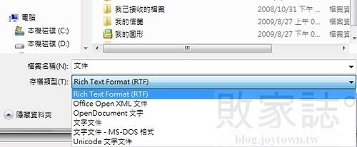 標準檔案格式支援