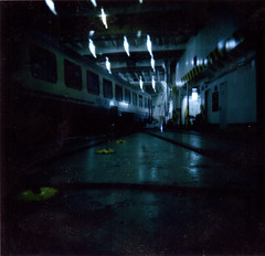 Train Inside Ferry Boat (Fabrizio - Real Polaroid) Tags: italy art film polaroid holga lomo lomography europe fuji toycamera lofi instant nophotoshop peel holgaroid holga120 pola polga messina ferryboat apart nopostproduction instantfilm type80 type100 holgapolaroid scanfrompolaroid