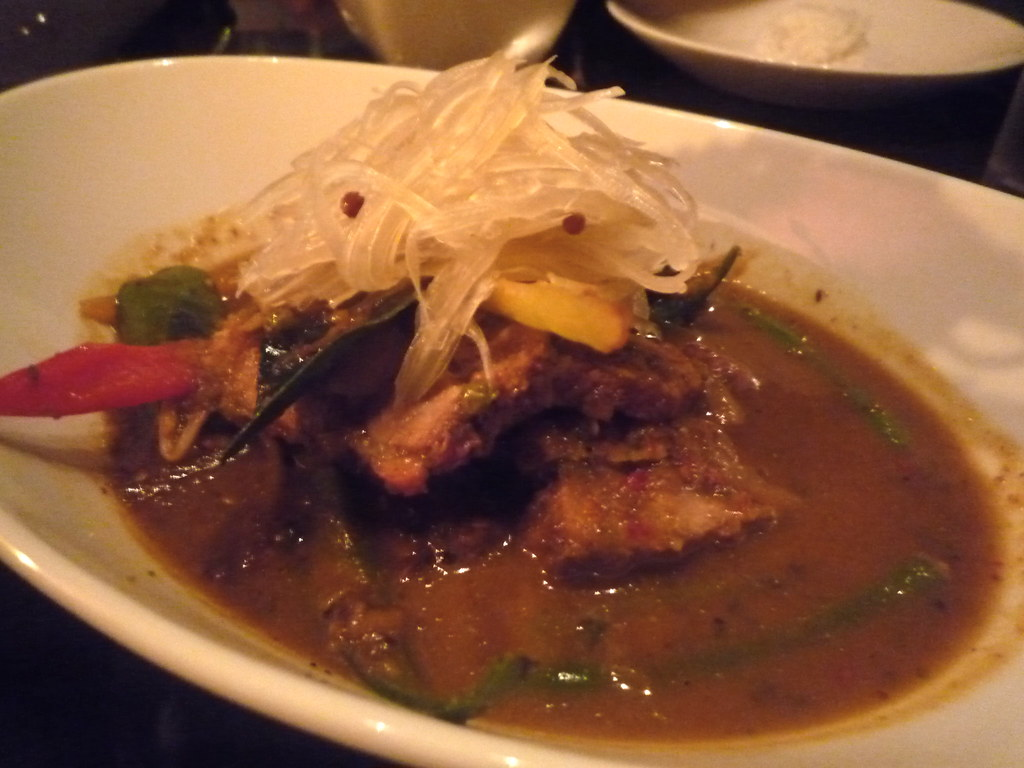 Hot jungle curry of pork