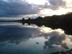 Still Summer (fingeronthebutton) Tags: sunset sky sun lake reflection water scotland angus loch eveningcloud