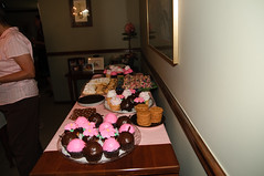 Cupcakes!  Chocolate brown and pink were the color theme of the day!