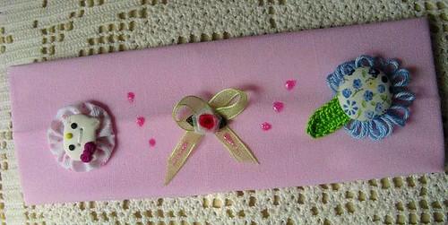 Faixa de cabelo rosa claro Hello Kitty - Ref.30/09