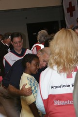 Southeast Floods: Vice Presiden Biden visits a Red Cross shelter in Atlanta