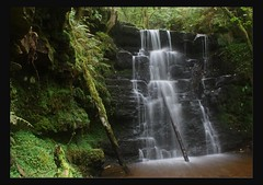 waterfall at talybont (Martyn.Smith. Back from Euro tour :)) Tags: water southwales wales creek forest canon woodland river landscape eos waterfall stream flickr wasserfall cymru breconbeacons cascade powys cascada cascata waterval potofgold talybont 450d  platinumheartaward