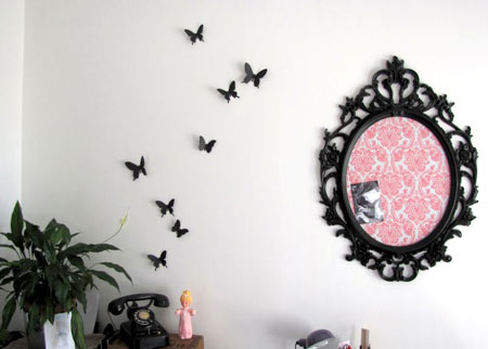 decoracion-pared-mariposas